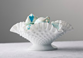 Cake Stands & Plates - Hobnail Open Compote