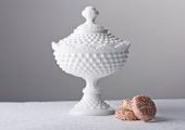 Compotes & Bowls - Hobnail Fancy Lidded Candy Dish