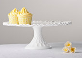 Compotes & Bowls - Thumbprint Milk Glass Stand
