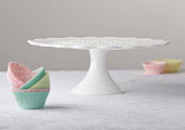 Cake Stands & Plates - Scallops and Spanish Lace Cake Stand