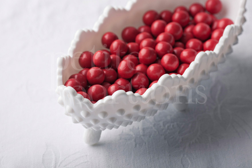 Compotes & Bowls - Hobnail Footed Nut Dish