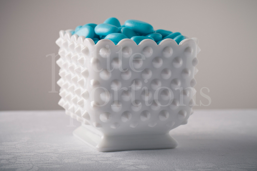 Compotes & Bowls - Hobnail Milk Glass Square Dish