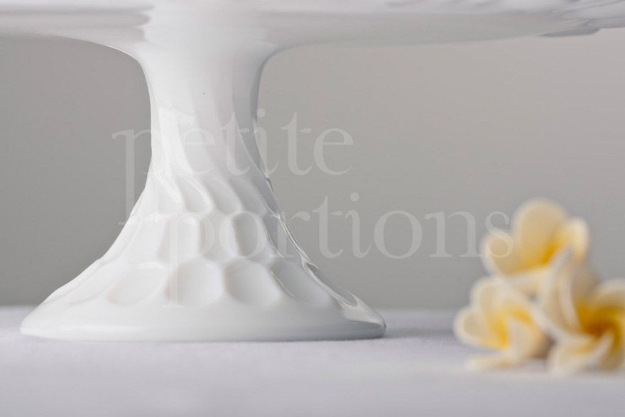 Cake Stands & Plates - Thumbprint Milk Glass Stand
