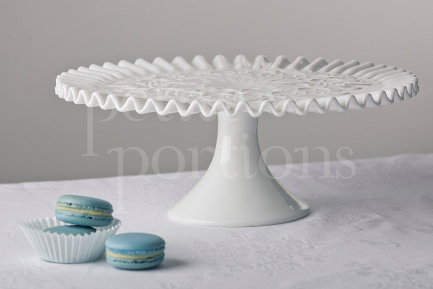Cake Stands & Plates - Ruffled Spanish Lace Cake Stand