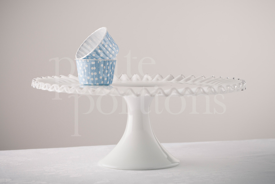 Cake Stands & Plates - Silvercrest Milk Glass Cake Stand