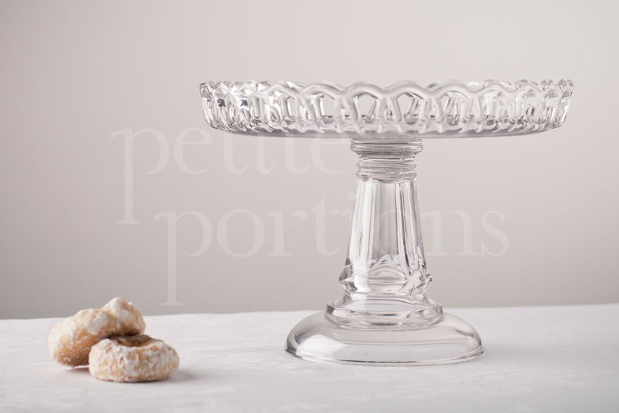 Cake Stands & Plates - Lace Edge Wide Stem Cake Stand