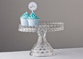 Compotes & Bowls - Fostoria American Pressed Glass Cake Stand