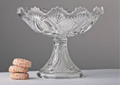 Compotes & Bowls - Pineapple Pressed Glass Compote