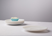 Cake Stands & Plates - Hobnail Edge Milk Glass Plate - Small