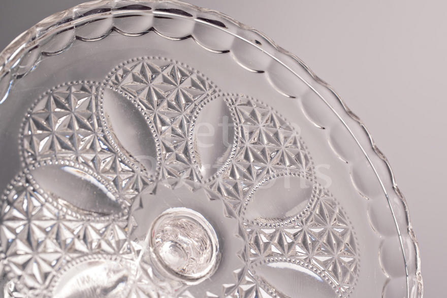 Cake Stands & Plates - Crystal Footed Glass Small Cake Stand