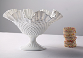 Compotes & Bowls - Ruffles and Ribs Hobnail Compote - Extra Large