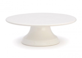 Cake Stands & Plates - Flat Plate Cake Stand - White
